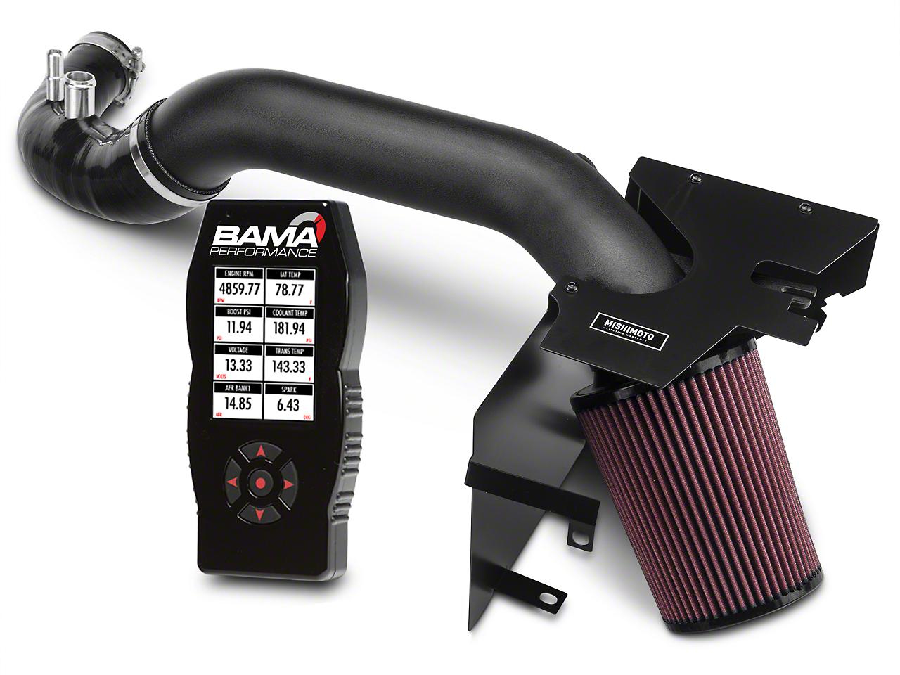 Mishimoto Performance Air Intake - Wrinkle Black & Bama X4 Tuner (15-17 EcoBoost)