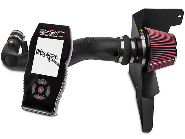 K&N Series 63 AirCharger High Performance Cold Air Intake & SCT X4 Tuner w/ Unleashed Tunes (15-17 EcoBoost)