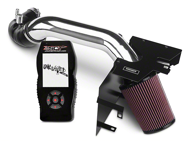 Mishimoto Performance Air Intake - Polished & SCT X4 Tuner w/ Unleashed Tunes (15-17 EcoBoost)
