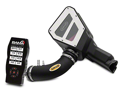 Airaid Cold Air Intake w/ Red SynthaFlow Oiled Filter & Bama X4 Tuner (15-17 V6)