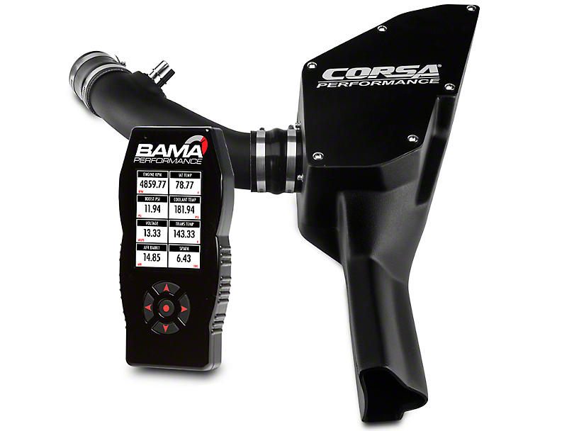Corsa Pro5 Closed Box Air Intake System & Bama X4 Tuner (15-17 V6)