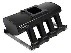 Sniper Hi-Ram Single Plane Carbureted Fabricated Intake Manifold; Black (11-14 GT)