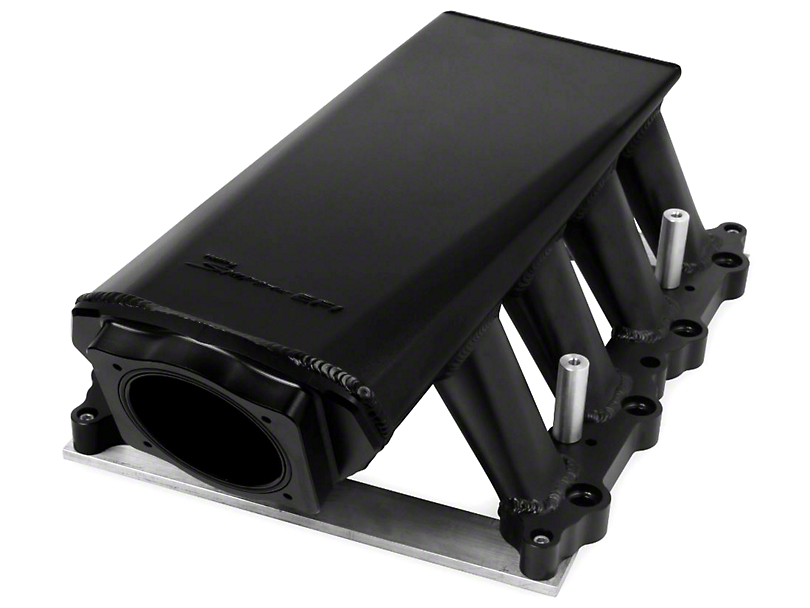 Sniper Hi-Ram EFI Fabricated Intake Manifold w/ 90mm TB Opening & Fuel Rail Kit - Black (11-14 GT)