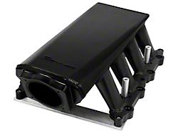 Sniper Hi-Ram EFI Fabricated Intake Manifold with 90mm TB Opening and Fuel Rail Kit; Black (11-14 GT)