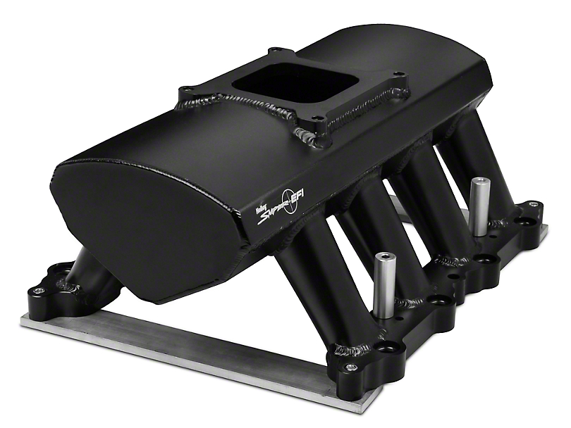 Sniper Hi-Ram Single Plane EFI Fabricated Intake Manifold w/ Fuel Rail Kit - Black (11-14 GT)