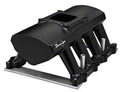 Sniper Hi-Ram Single Plane EFI Fabricated Intake Manifold with Fuel Rail Kit; Black (11-14 GT)
