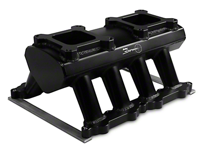 Sniper Hi-Ram Single Plane Dual Quad Carbureted Fabricated Intake Manifold - Black (11-14 GT)