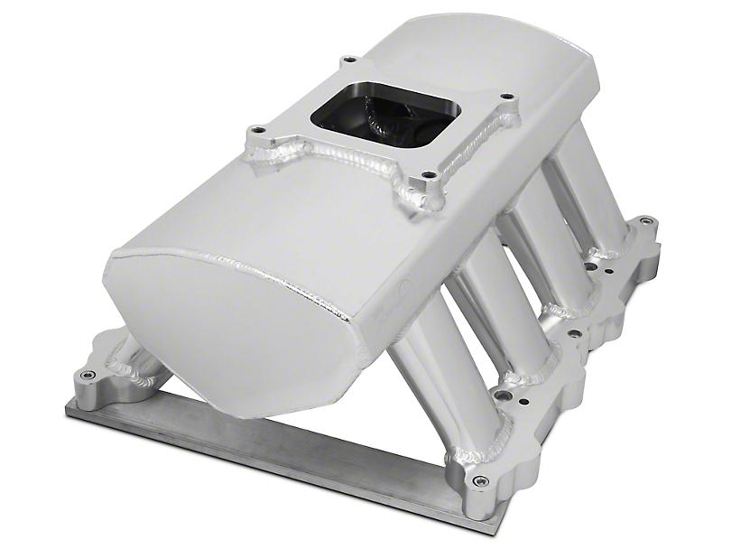 Sniper Hi-Ram Single Plane Carbureted Fabricated Intake Manifold - Silver (11-14 GT)