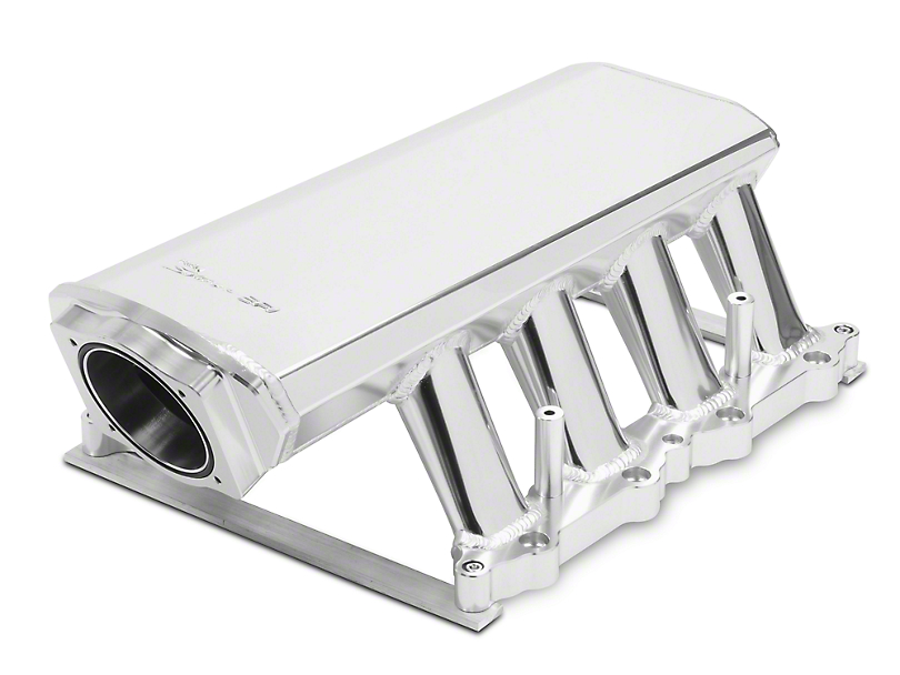 Sniper Hi-Ram EFI Fabricated Intake Manifold with 90mm TB Opening and Fuel Rail Kit; Silver (11-14 GT)