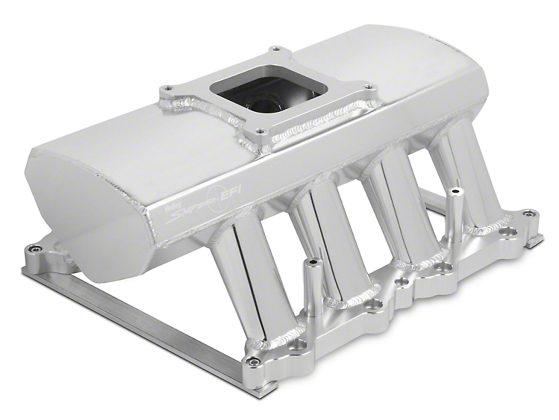 Sniper Hi-Ram Single Plane EFI Fabricated Intake Manifold w/ Fuel Rail Kit - Silver (11-14 GT)