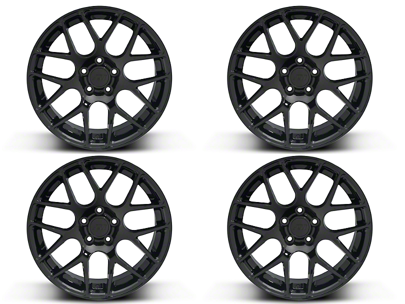 Black AMR 4 Wheel Kit - 19x8.5 (15-19 GT, EcoBoost, V6)
