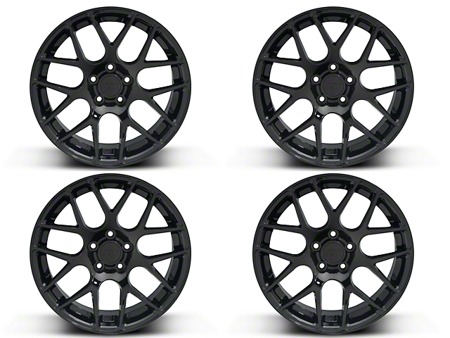 Black AMR 4 Wheel Kit - 19x8.5 (15-18 GT, EcoBoost, V6)
