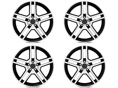 Black Machined 2010 GT500 Style 4 Wheel kit - 19x8.5 (15-18 All)