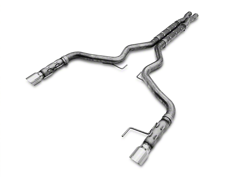 Stainless Works 3 in Retro LMF Cat-Back Exhaust w/ X-Pipe (15-17 GT Fastback w/ Long Tube Headers)