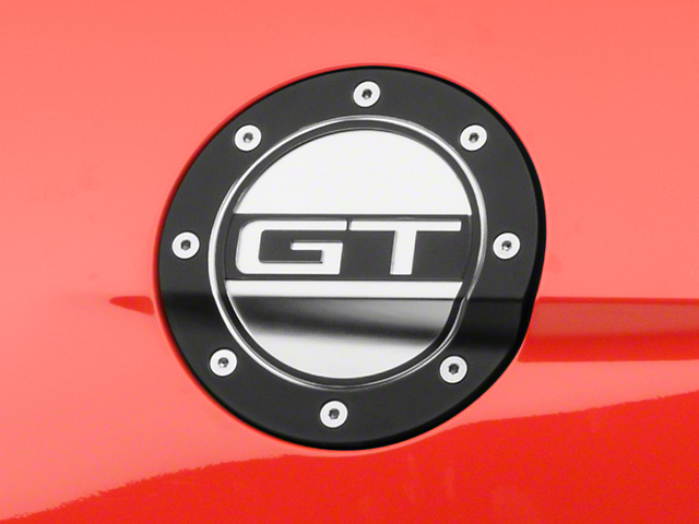 Competition Series Fuel Door w/ GT Logo - Black & Silver (15-18 All)