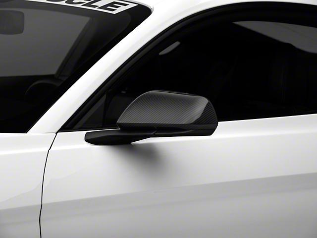 MMD Mirror Covers; Carbon Fiber (15-20 GT, EcoBoost, V6 w/o Mirror Signals)