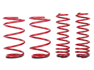 BMR Lowering Springs, Set of 4, 1.5 in. Drop, Drag, GT - Red (05-14 GT)