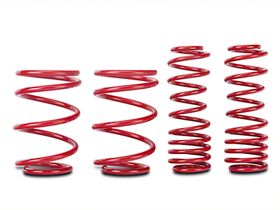 BMR Lowering Springs, Rear, 1.5 in. Drop, Handling, GT500 - Red (07-14 GT500)
