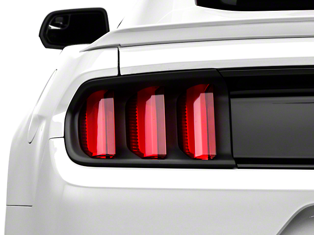 MMD Tail Light Trim; Matte Black (15-17 All, Excluding 50th Anniversary)
