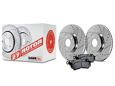 Hawk Performance Sector 27 Rotors and HPS 5.0 Brake Pad Kit - Front (05-10 GT; 11-14 V6)
