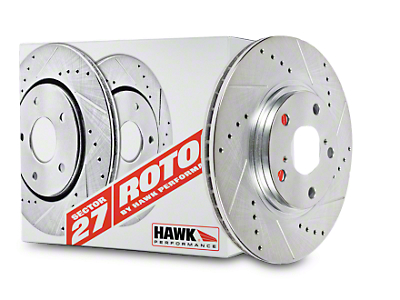 Hawk Performance Sector 27 Rotors and HPS 5.0 Brake Pad Kit - Front (11-14 GT Brembo; 12-13 BOSS 302; 07-12 GT500)