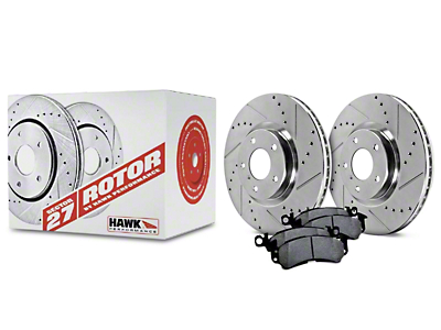 Hawk Performance Sector 27 Rotors and Ceramic Brake Pad Kit - Front (07-12 GT500; 11-14 Brembo GT; 12-13 Boss 302)