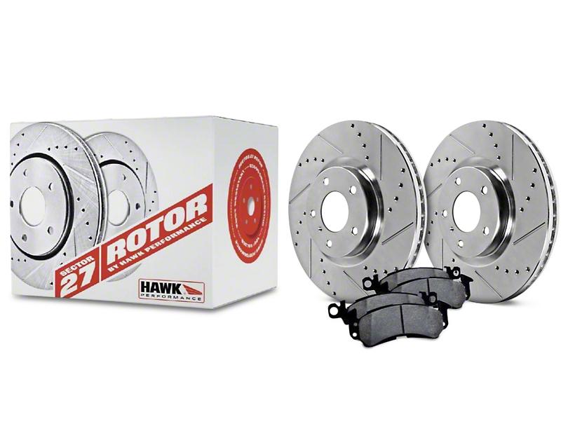 Hawk Performance Sector 27 Rotors and Ceramic Brake Pad Kit - Rear (05-14 All)
