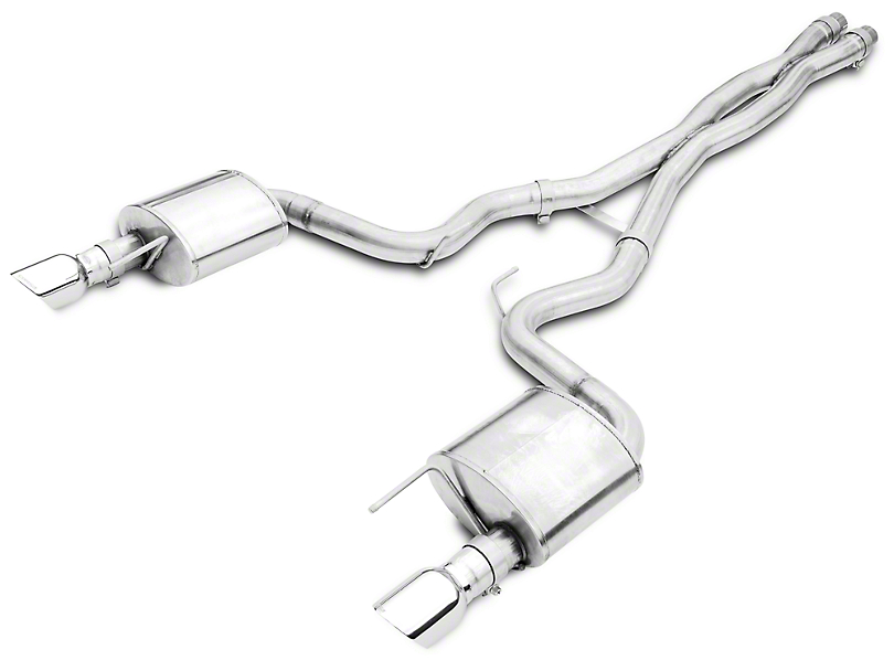 Corsa Xtreme Cat-Back Exhaust - Polished Tips (15-17 GT)