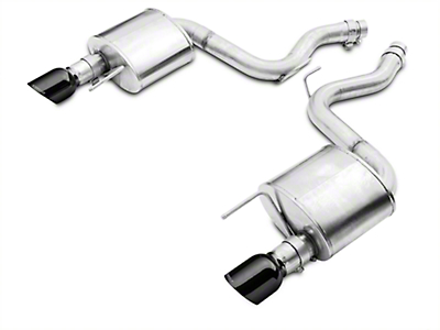 Corsa Sport 3in Axle-Back Exhaust - Black Tips (15-17 GT Fastback)