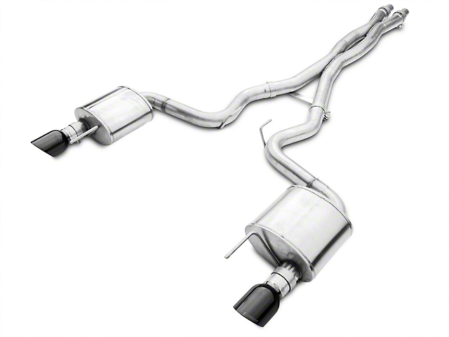 Corsa Xtreme Cat-Back Exhaust with Black Tips (15-17 GT)
