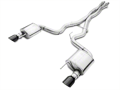 Corsa Xtreme Cat-Back Exhaust w/ Black Tips (15-17 GT)