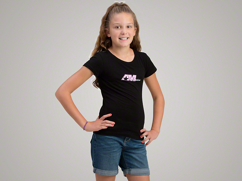 AmericanMuscle Black Signature T-Shirt - Girls