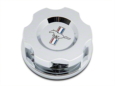 Modern Billet Chrome Radiator Cap Cover w/ Tri-Bar Logo (15-18 All)