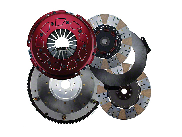 RAM Pro Street Dual Disc 900 Series Clutch w/ 8 Bolt Aluminum Flywheel - 23 Spline (11-17 GT)