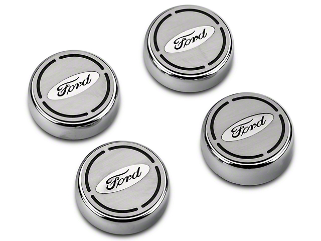SR Performance Engine Cap Covers w/ Black Carbon Fiber Inlay - Ford Oval (15-17 All)