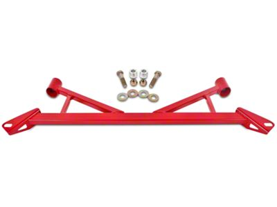 BMR Front Subframe Chassis Brace - Red (15-19 GT, EcoBoost)