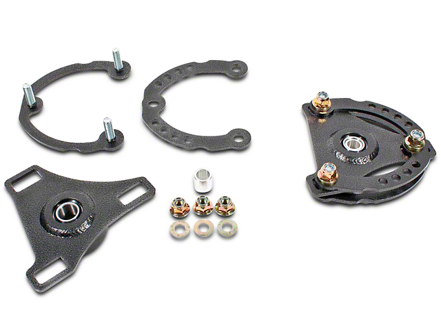 BMR Caster Camber Plates - Hammertone (15-19 All)