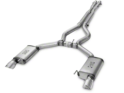 AFE Mach Force-XP 3 in. Cat-Back Exhaust w/ X-Pipe - Polished Tips (15-17 GT Fastback)