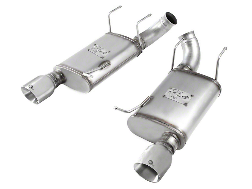 AFE Mach Force XP 3 in. Axle-Back Exhaust - Polished Tips (11-14 GT)