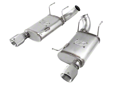 AFE MACH Force XP 3 in. Axle-Back Exhaust w/ Polished Tips (11-14 GT)