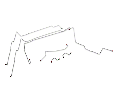 OPR Front Brake Line Kit; With ABS; Steel (94-95 GT)