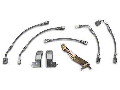 94-95 Mustang SVT Cobra Russell Stainless Steel Brake Line Kit 2 Front 1 Rear
