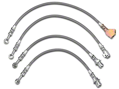OPR Braided Stainless Complete Brake Hose Kit - Front & Rear (96-98 GT)