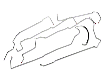 OPR Fuel Line Kit; Steel (96-98 GT)
