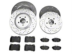 Xtreme Stop Precision Drilled & Slotted Brake Rotor & Ceramic Pad Kit - Front & Rear (11-14 GT Brembo; 12-13 BOSS 302; 07-12 GT500)