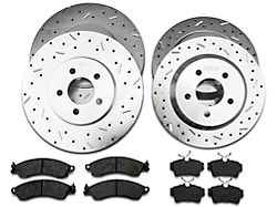 Xtreme Stop Precision Cross-Drilled & Slotted Brake Rotor & Ceramic Pad Kit - Front & Rear (94-04 Cobra, Bullitt, Mach 1)