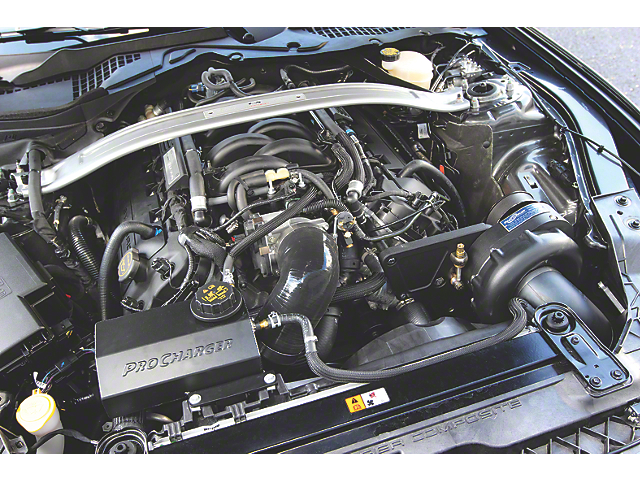 Procharger Stage II Intercooled Supercharger Tuner Kit; Satin Finish (15-19 GT350)