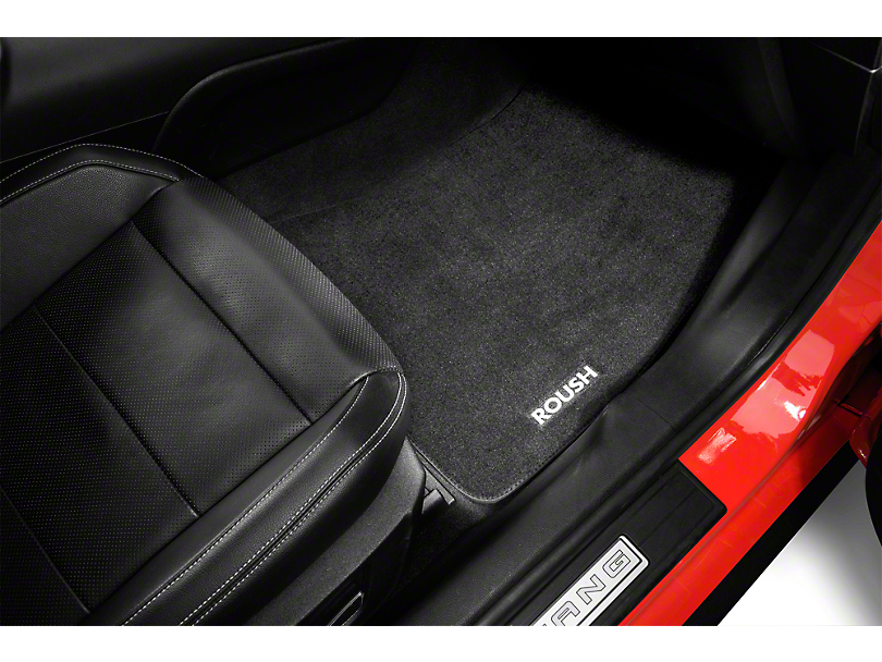 Roush Embroidered Front & Rear Floor Mats - Black (15-19 All)