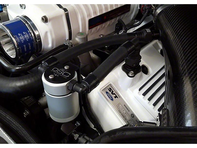 JLT V3.0 Satin Oil Separator - Driver Side (07-14 GT500)