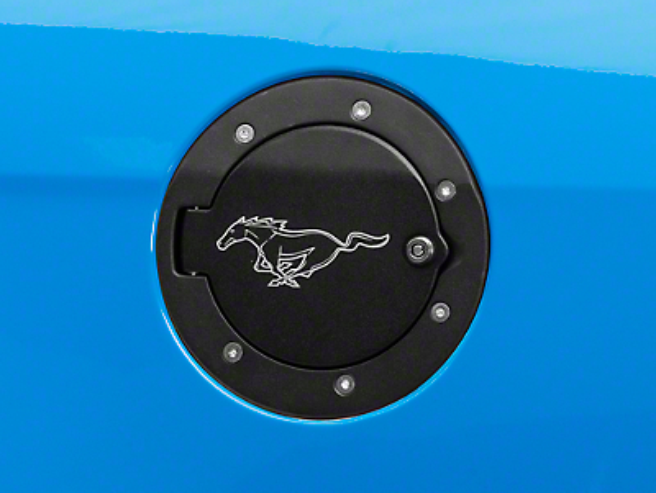 Defenderworx Locking Fuel Door w/ Pony Logo - Two Tone (10-14 All)